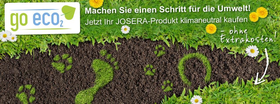 Kunden können im JOSERA Shop klimaneutral einkaufen